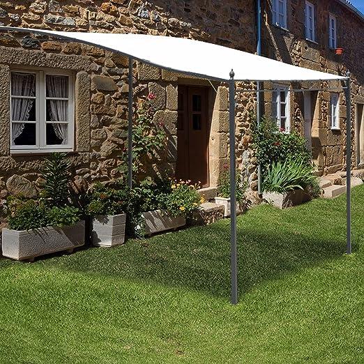 Outsunny Carpa de 3 m x 3 m con estructura metálica para jardín y porche: Amazon.es: Jardín