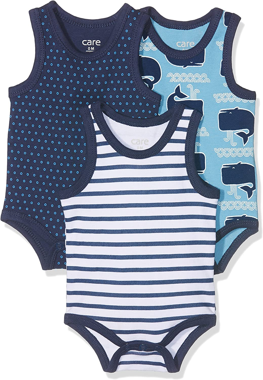 Exclusive 3-Pack Sleeveless Care Baby Boys Bodysuit