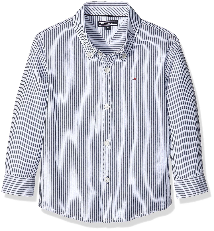 Tommy Hilfiger Jungen Hemd Park Stripe Shirt Fashion L/s