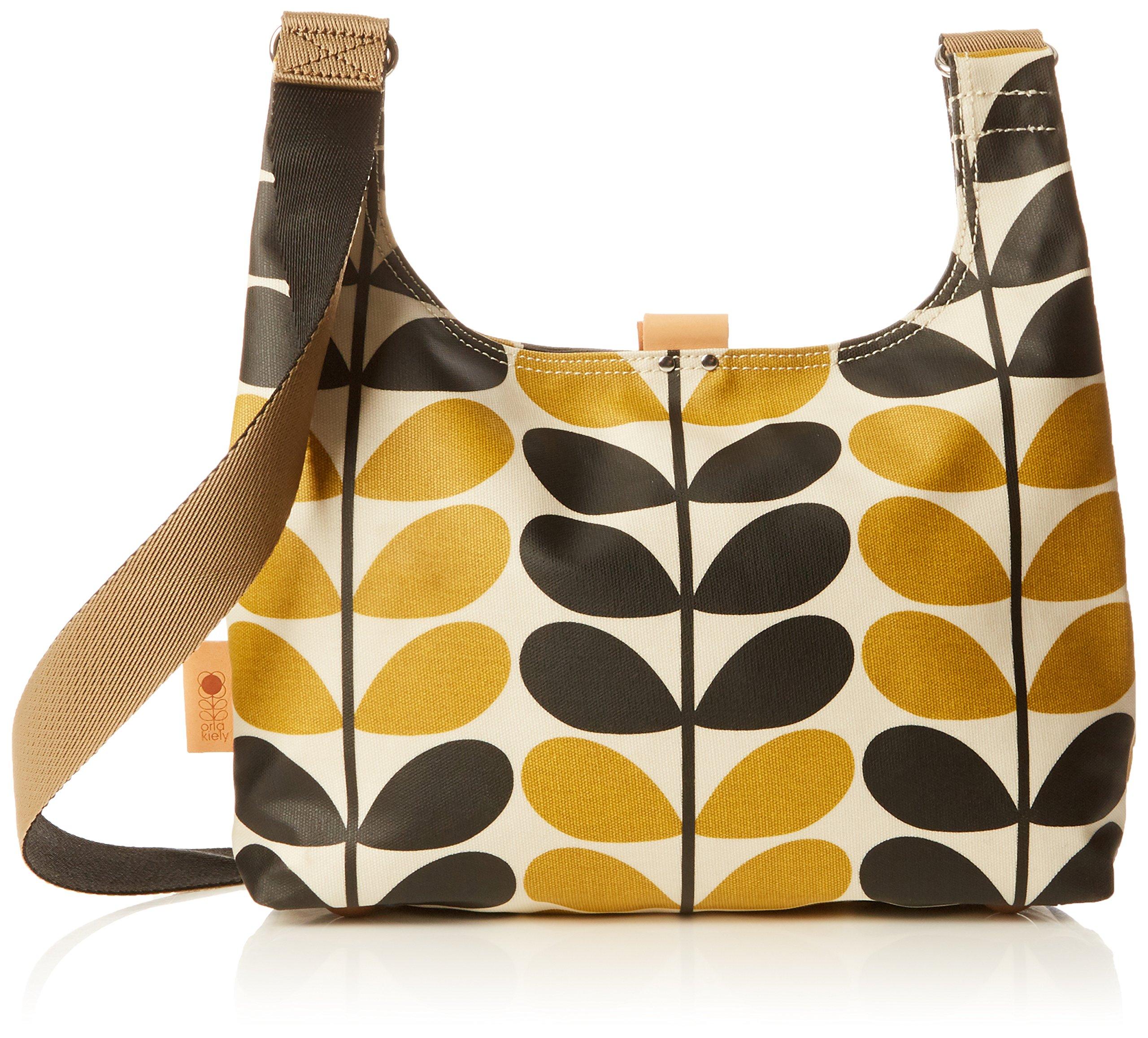 Orla Kiely Stem Check Print Mini Sling Bag, Dandelion