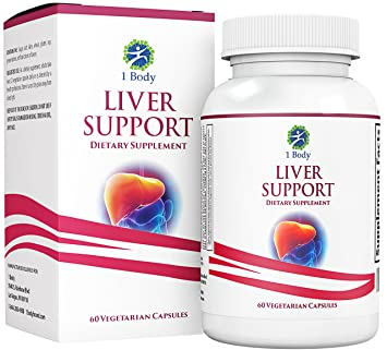 Liver Cleanse & Support Supplement – Milk Thistle Extract (Silymarin),  Turmeric Curcumin,