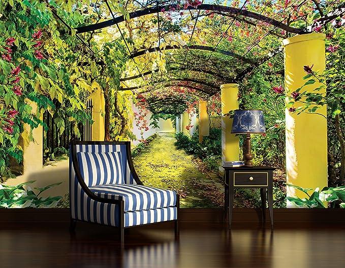 WTD – Papel pintado jardín pérgola Arch toldo flores naturaleza Mural de pared (136ve), 104cm x 70cm (WxH): Amazon.es: Bricolaje y herramientas