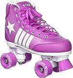 New! 2016 Epic Star Pegasus Indoor Outdoor Classic High-Top Quad Roller Skates w/ 2 Pair of Laces (Purple & White)