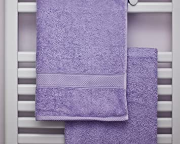 Toallas de algodón peinado Bedding Direct UK (500 g/m²), Lilac, XL Bath Sheet: Amazon.es: Hogar