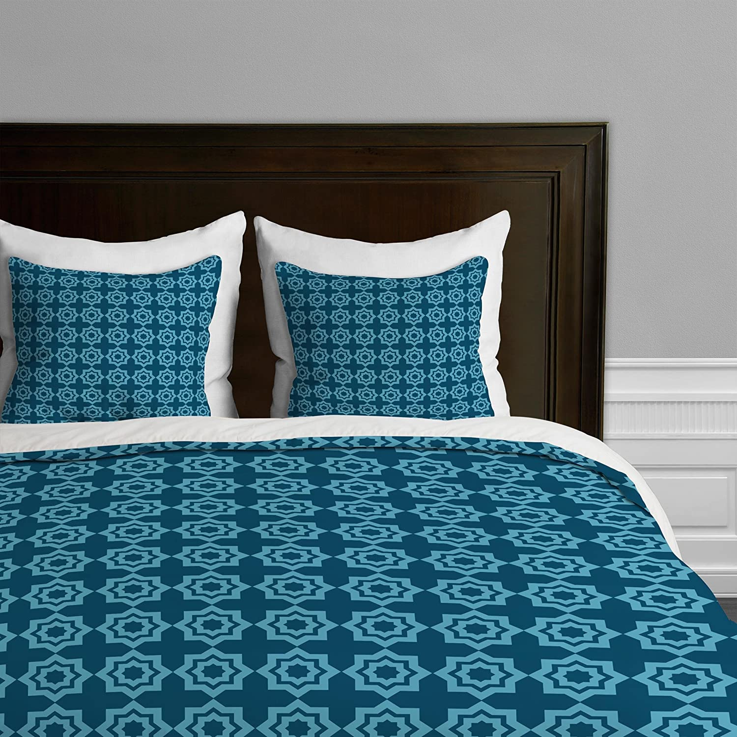 Mgoldccan Mirage bluee King Deny Designs  Khristian A Howell Bryant Park 6 Duvet Cover, Queen