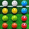 Kai Xin Practice Golf Balls,Hollow Plastic Golf Training Balls,Limited Flight Perforated Golf Training Balls for Kids Home Pu