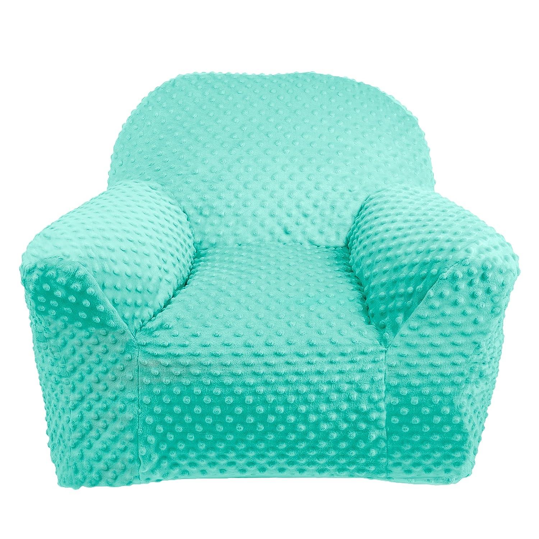 LULANDO Kindersessel Plush MINKY Babysessel Kindercouch Mini Sessel Kindermöbel für Spielzimmer und Kinderzimmer. Standard 100 von Öko Tex. Farbe  Mint