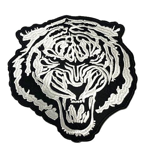 Amazon.com: Parche trasero de tigre bordado para motocicleta ...
