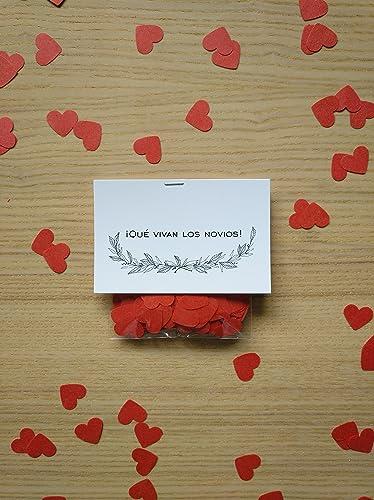 Bolsas de confeti corazón para bodas (Pack de 20 unidades ...