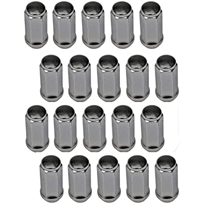 Dorman 711-1405 Wheel Nut Acorn M14-2.0 for Select Ford/Lincoln Models, Chrome (Pack of 24): Automotive