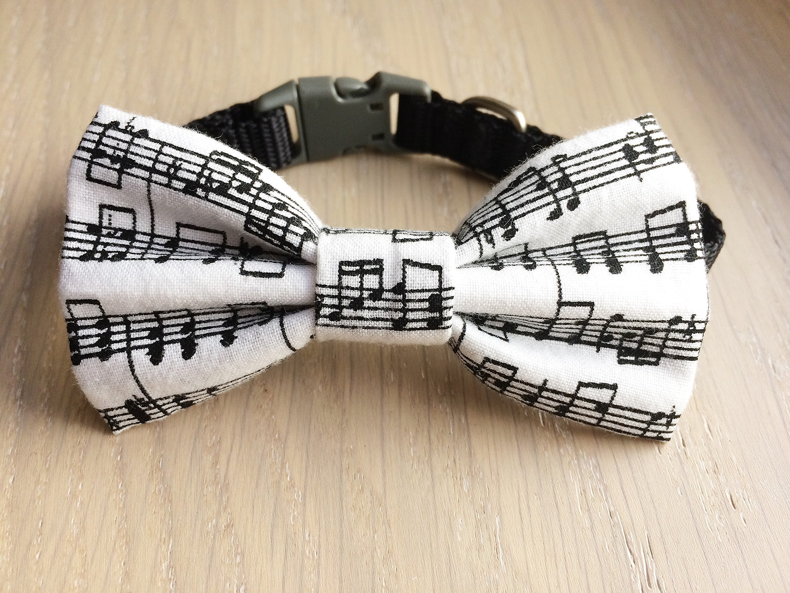 Musical Pet Bow Tie, Music Notes Bow Tie