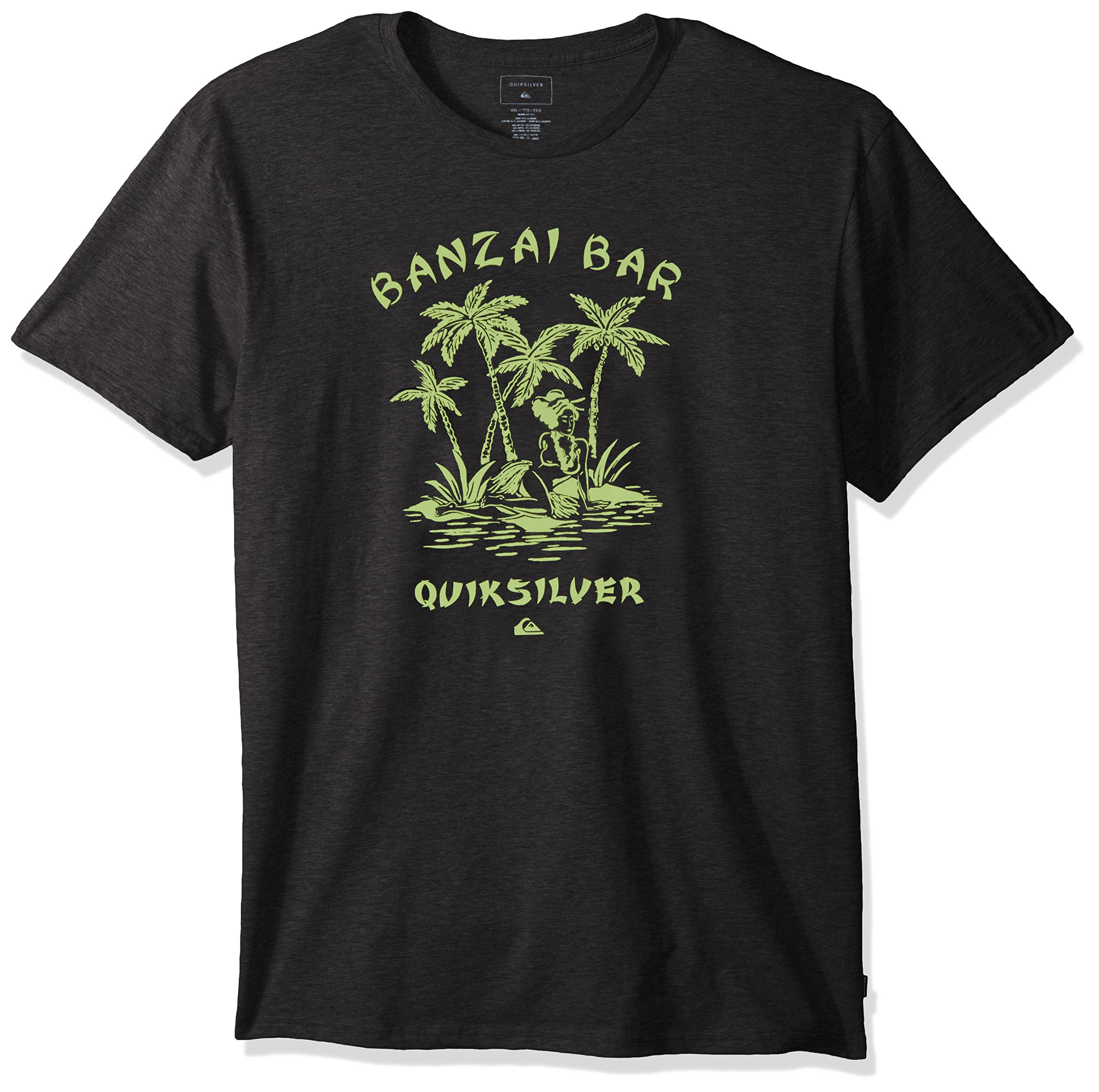 Quiksilver Men's Sunset Parlor Tee Shirt, Charcoal Heather, XL