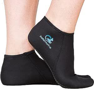 InstaMarine Premium Neoprene Water Fin Sock Perfect for Water Sports, Snorkeling, Diving, Swimming …