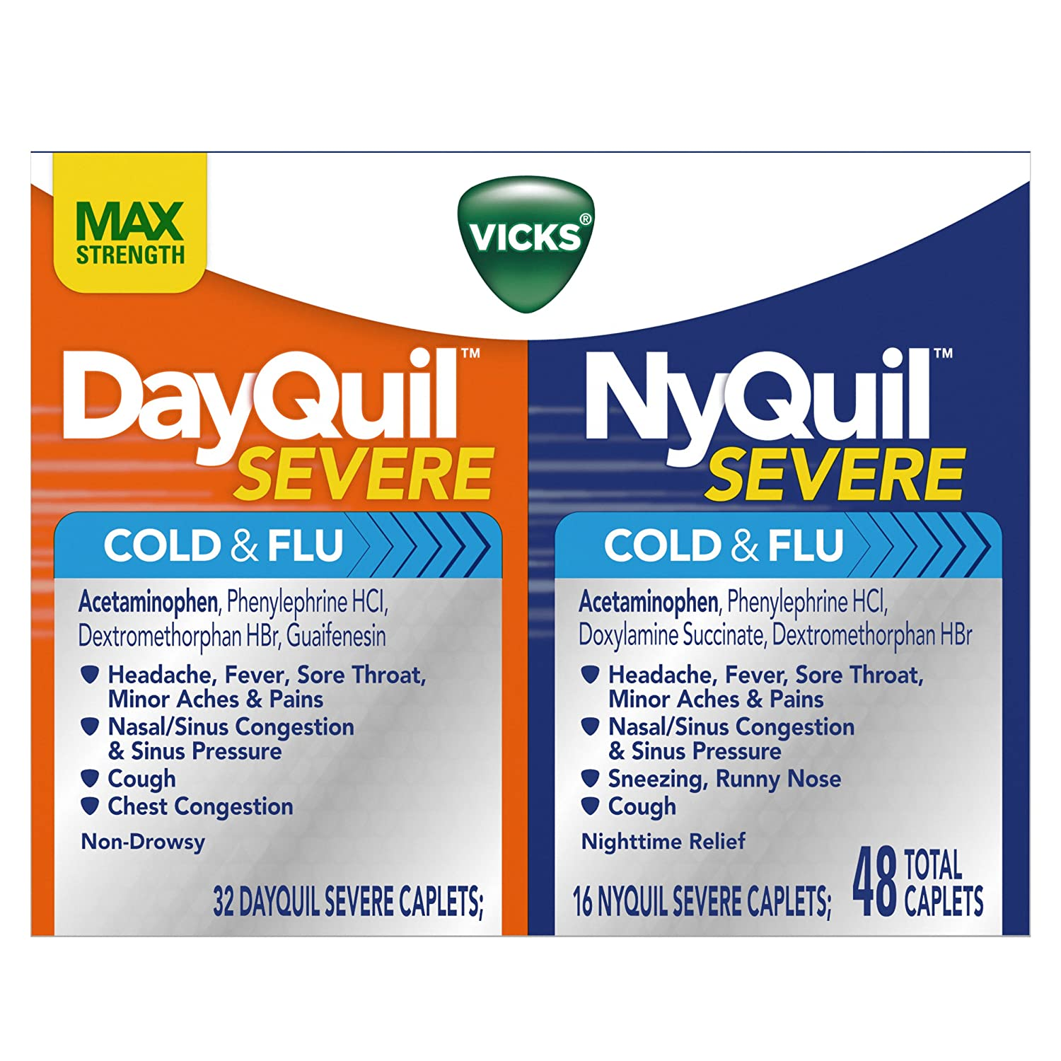 Amazon com vicks nyquil and dayquil severe cough cold and flu