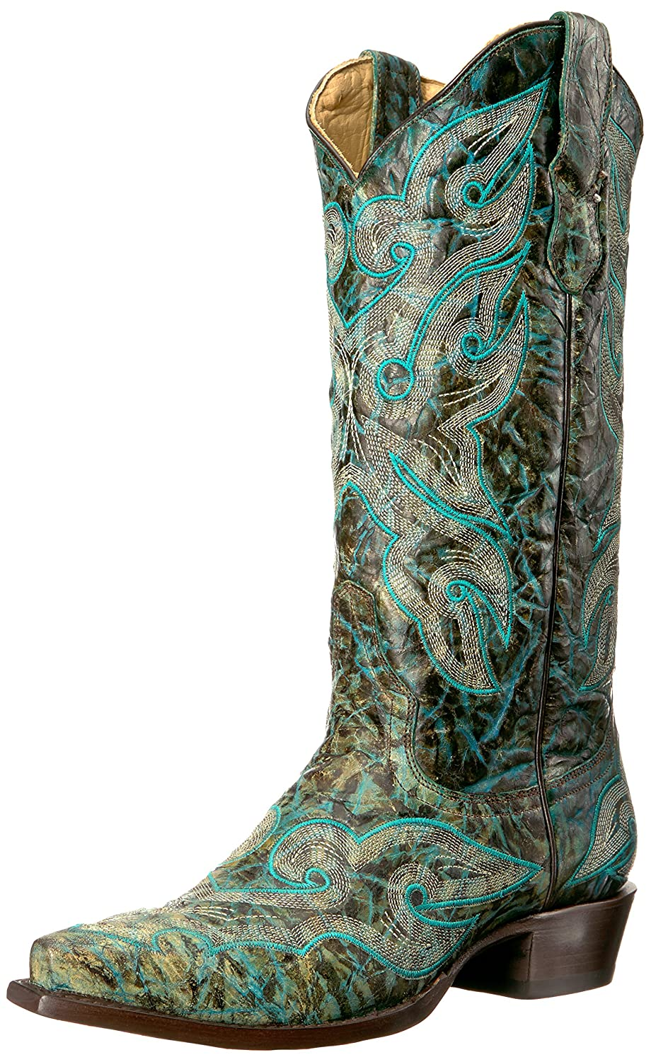 Stetson Women's Vintage Work Boot B00U9Y68X0 5.5 D US|Green