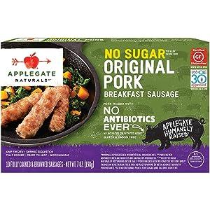 Applegate, Natural No Sugar Pork Breakfast Sausage, 7oz (Frozen)