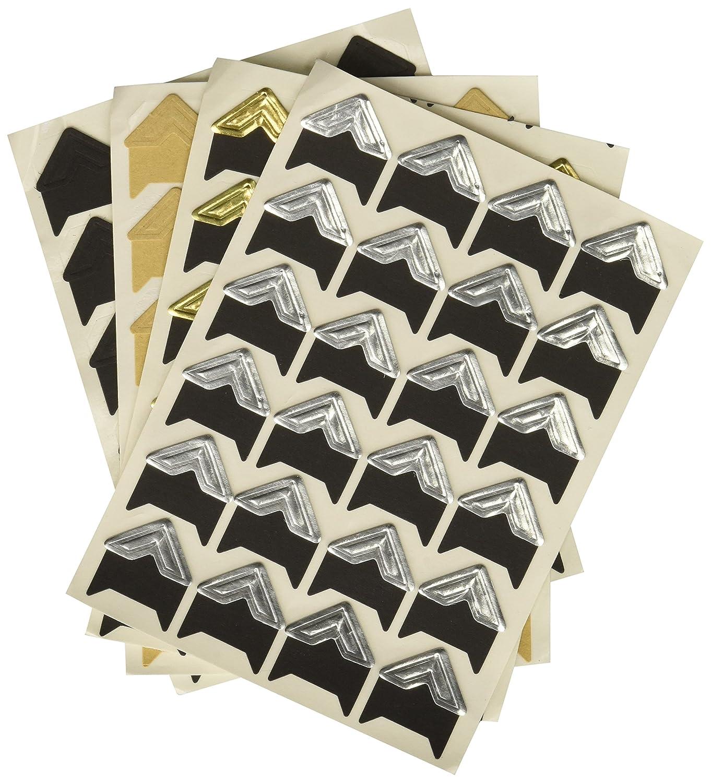 PuTwo Pack of 8 Self-adhesive Photo Corner Sticker DIY Photo Mounting Corners Photo Scrapbook Albums Accessories - Pure 601420327052
