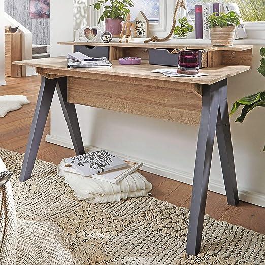Finebuy Design Schreibtisch Mit Schubladen Fb44220 Bürotisch Sonomaweiß 120 Cm Kleiner Nähtisch Arbeitstisch Büro Skandinavisch Schreib Und