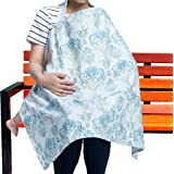 Nursing Cover Breastfeeding Scarf For Mom – Multi-Use Cover For Nursing – Spacious & Comfortable Baby Car Seat Canopy, Stroller, Scarf, & Shopping Cart – Best Gift For Young Mothers–100% Pure Cotton