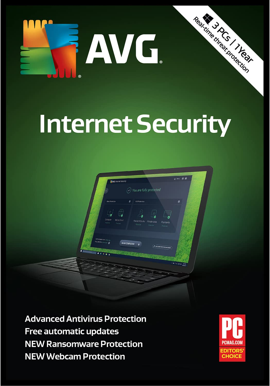 1 Year AVG Antivirus 3 PCs