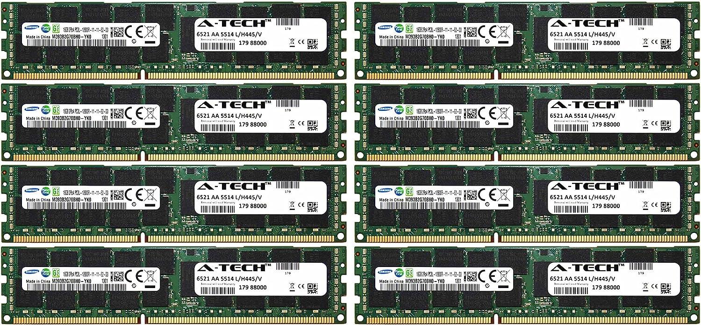 A-Tech Samsung 128GB Kit 8X 16GB PC3-12800 1.35V Dell PowerEdge M710hd M820 M915 A3721494 R410 R420 R515 A3721500 R520 R610 R620 A3721505 R715 R720 R720xd Snpp9rn2c/8g R810 R815 A2626072 Memory RAM
