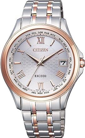 60af79813c [シチズン]CITIZEN 腕時計 EXCEED エクシード エコ・ドライブ電波時計 ペアモデル CB1084-