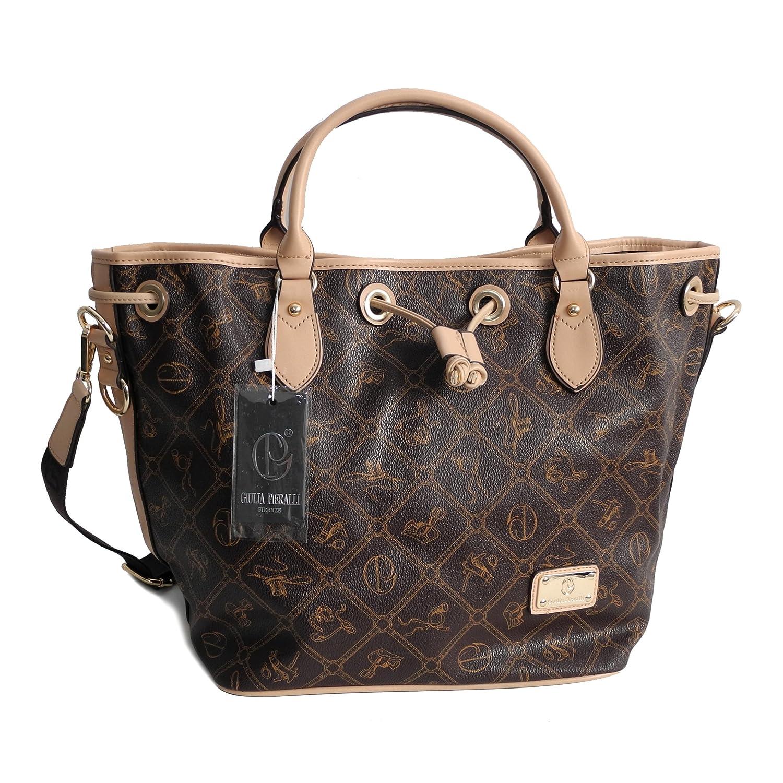 Giulia pieralli femme glamour sac à main xXL sac à dos décontracté Coffeebeige (Beige) - 0