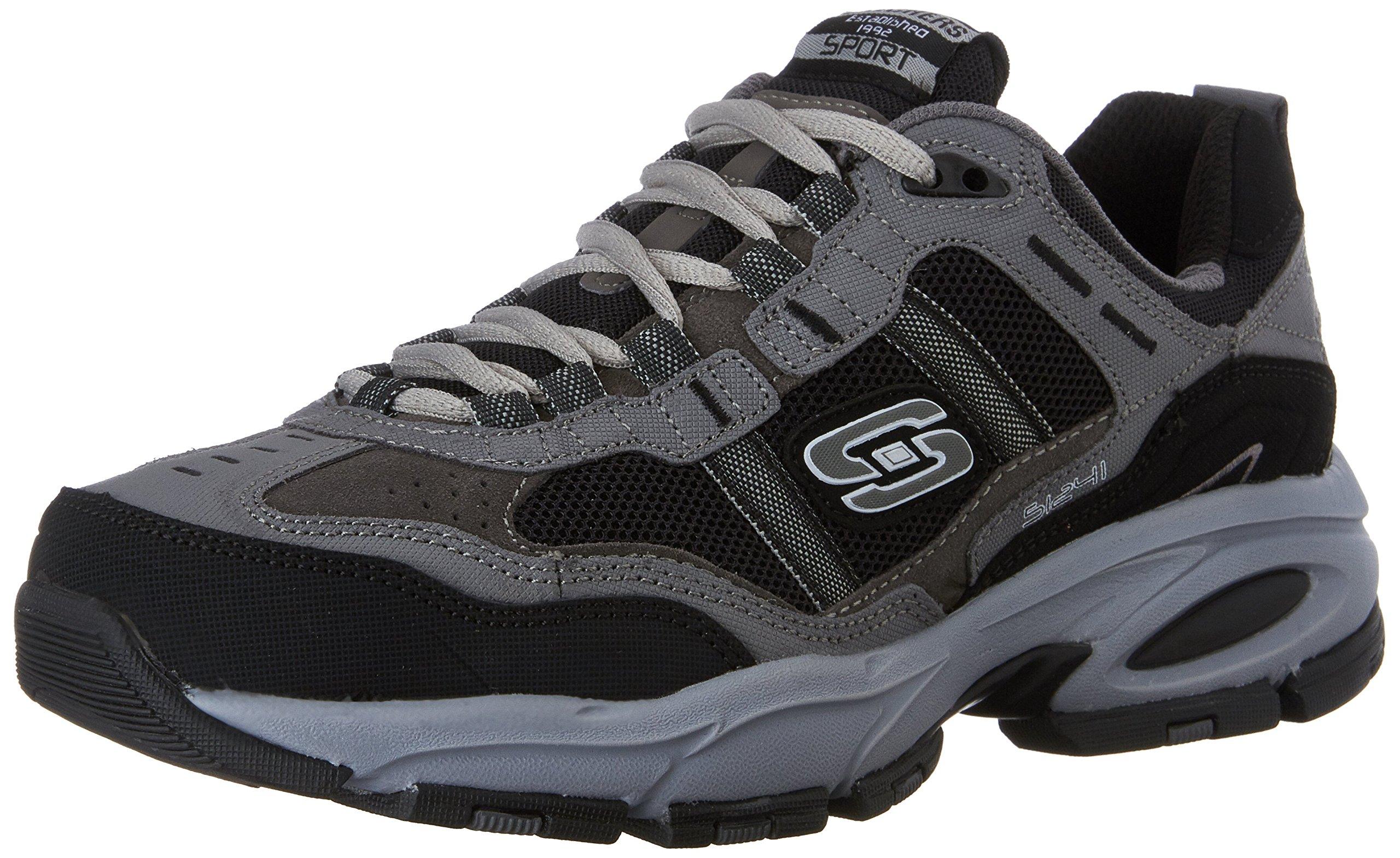 Skechers Sport Men's Vigor 2.0 Trait Memory Foam Sneaker, Charcoal/Black, 8.5 M US by Skechers