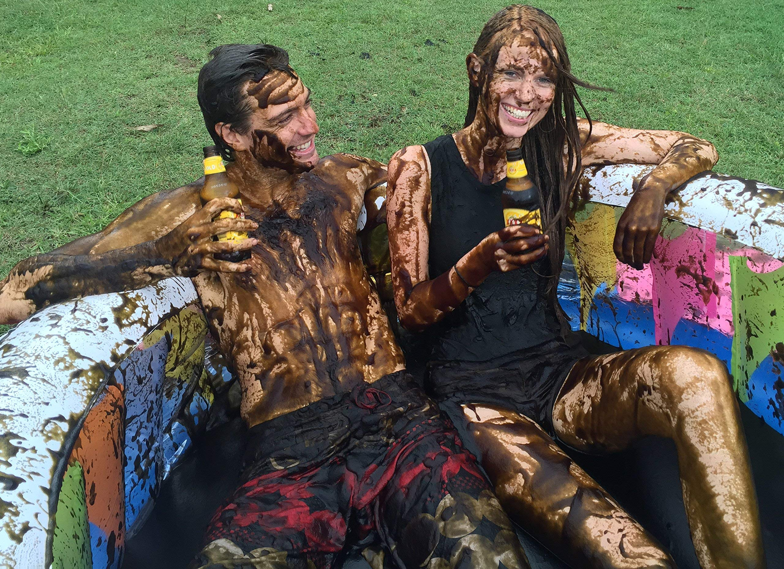 INSTANT MUD for Wrestling, Mud Pies, Balloons & Bombs JUST ADD WATER Bulk Mud powder makes 60 GALLONS of fake mud. Safe, clean mud run obstacle pits, pitch burst, Slime sludge messy kit oil tar by JelloWrestlingSupply.com (Image #8)