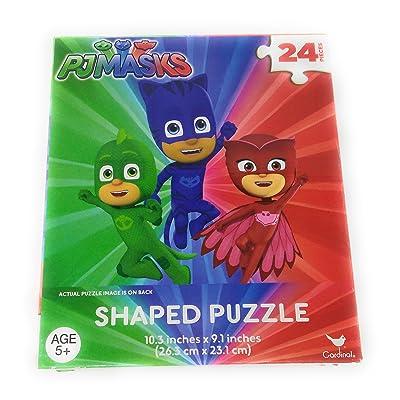 Kids Hot SELLER 24 Piece PJ Masks Shaped Jigsaw Puzzle (PJ Masks): Toys & Games