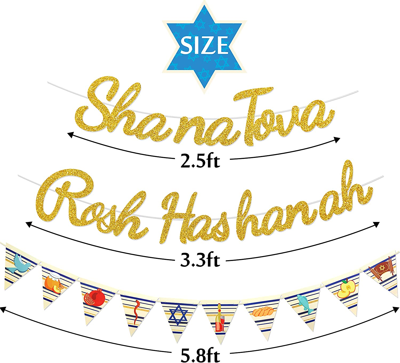 Shana Tova Banner Jewish Holiday Greetings Garland Jewish New Year Decorations Jewish High Holy Day Supplies Rosh Hashanah Decor Yaaaaasss