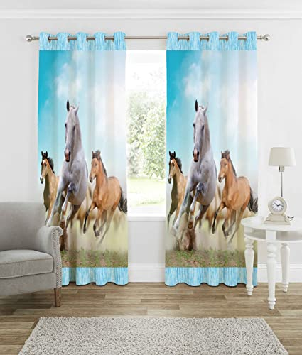 b7 CREATIONS Polyester Knitted Animal Digital Print Curtain for Long Door (9ft, Multicolour)