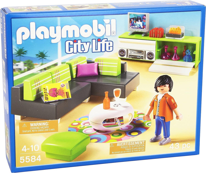PLAYMOBIL Mansión Moderna Sala de Estar, playset (5584)