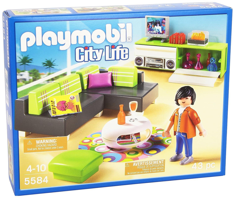 5584 salon moderne de playmobil for Salon playmobil
