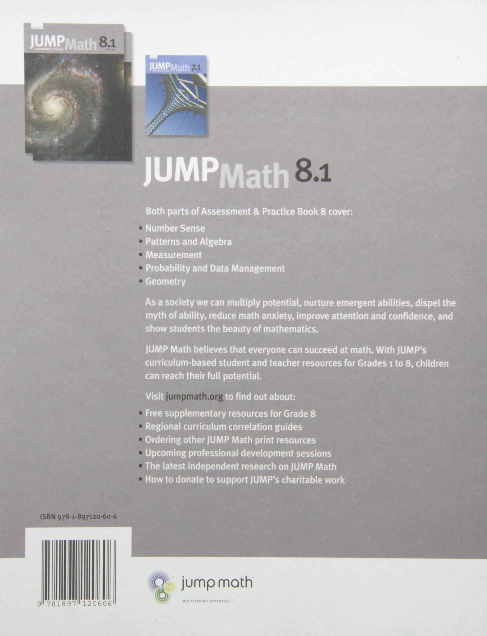 JUMP Math 8 1: Book 8, Part 1 of 2: Amazon ca: John Mighton