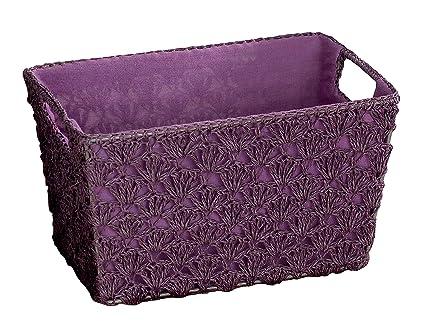 Amazon.com: Compactor Cesta Crochet Aunty grande, Ciruela by ...