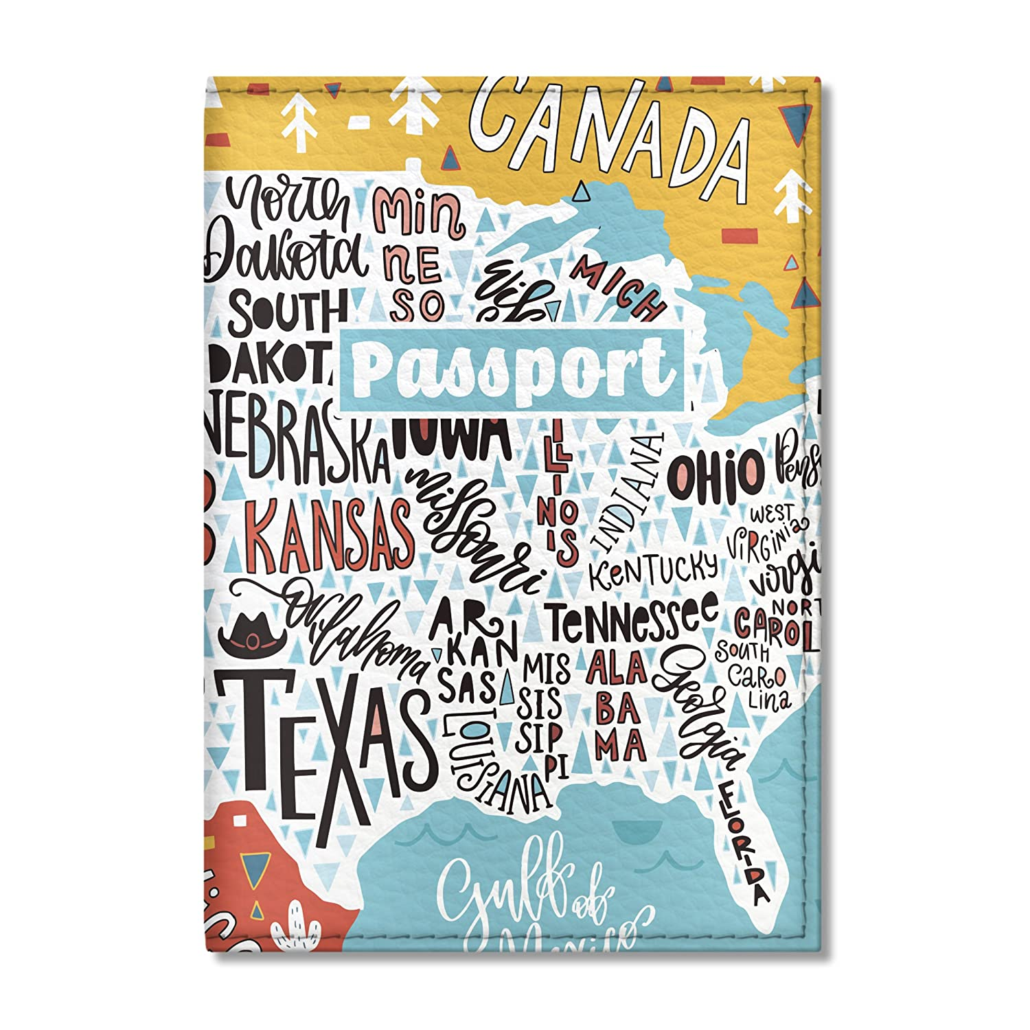 Cute Usa Map.Amazon Com Cute Travel Passport Cover For Women And Men By