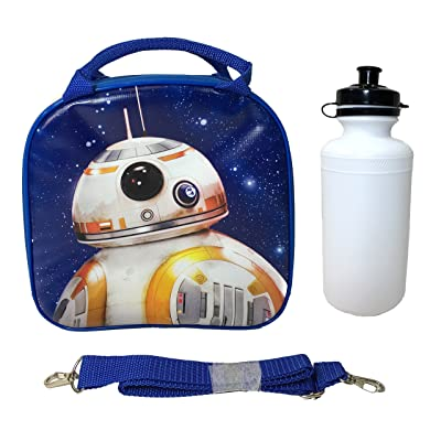 Disney Star Wars Blue Bb-8 Lunch Bag with Water Bottle & Adjustable Shoulder Strap: Kitchen & Dining