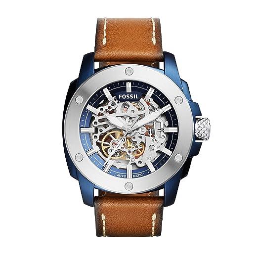 Fossil Reloj para Hombre de Automático con Correa en Cuero ME3135: Amazon.es: Relojes