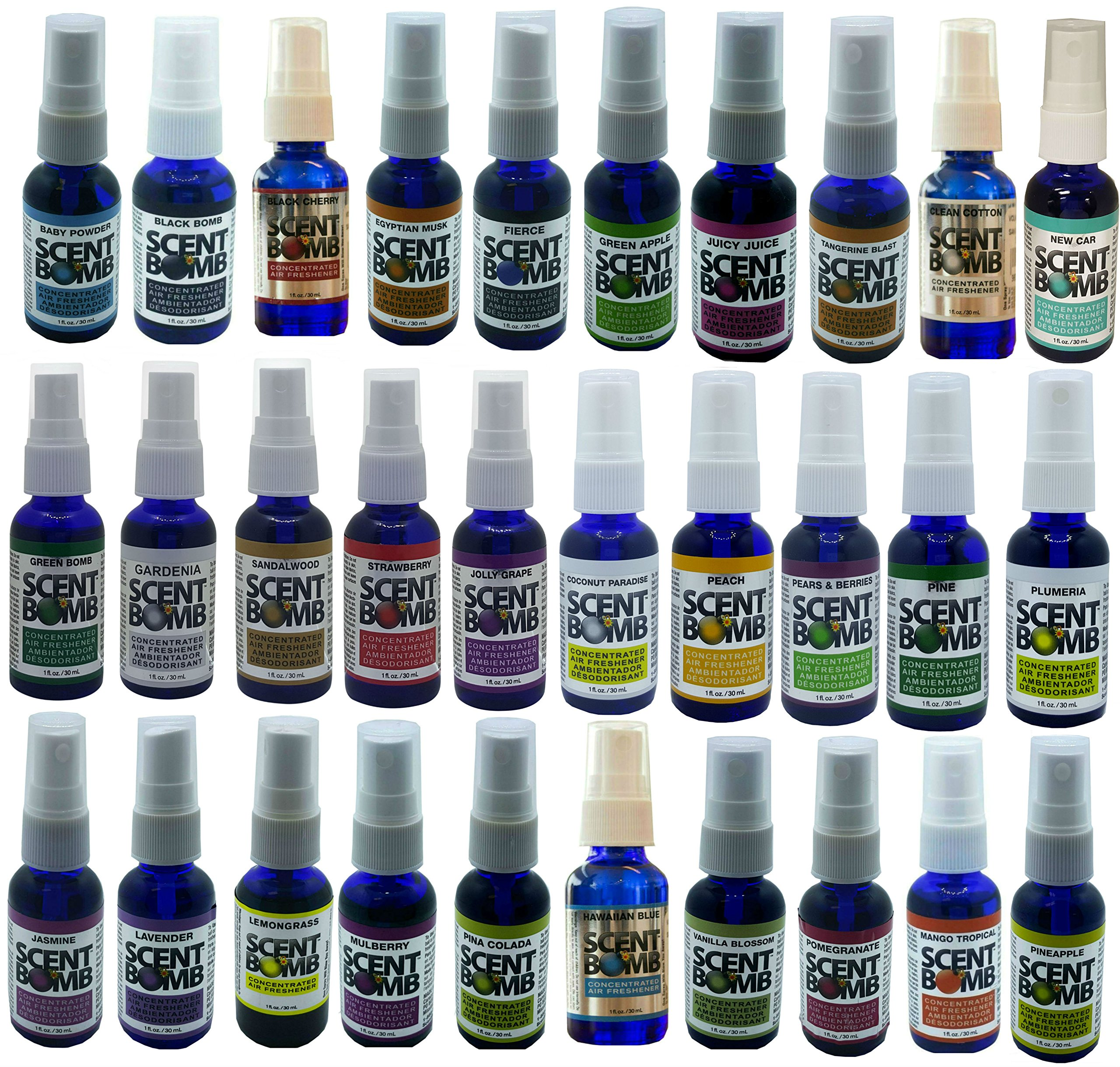 Scent Bomb Limited Edition Concentrated Air Freshener 36 Different Fragrance Pack by Scent Bomb