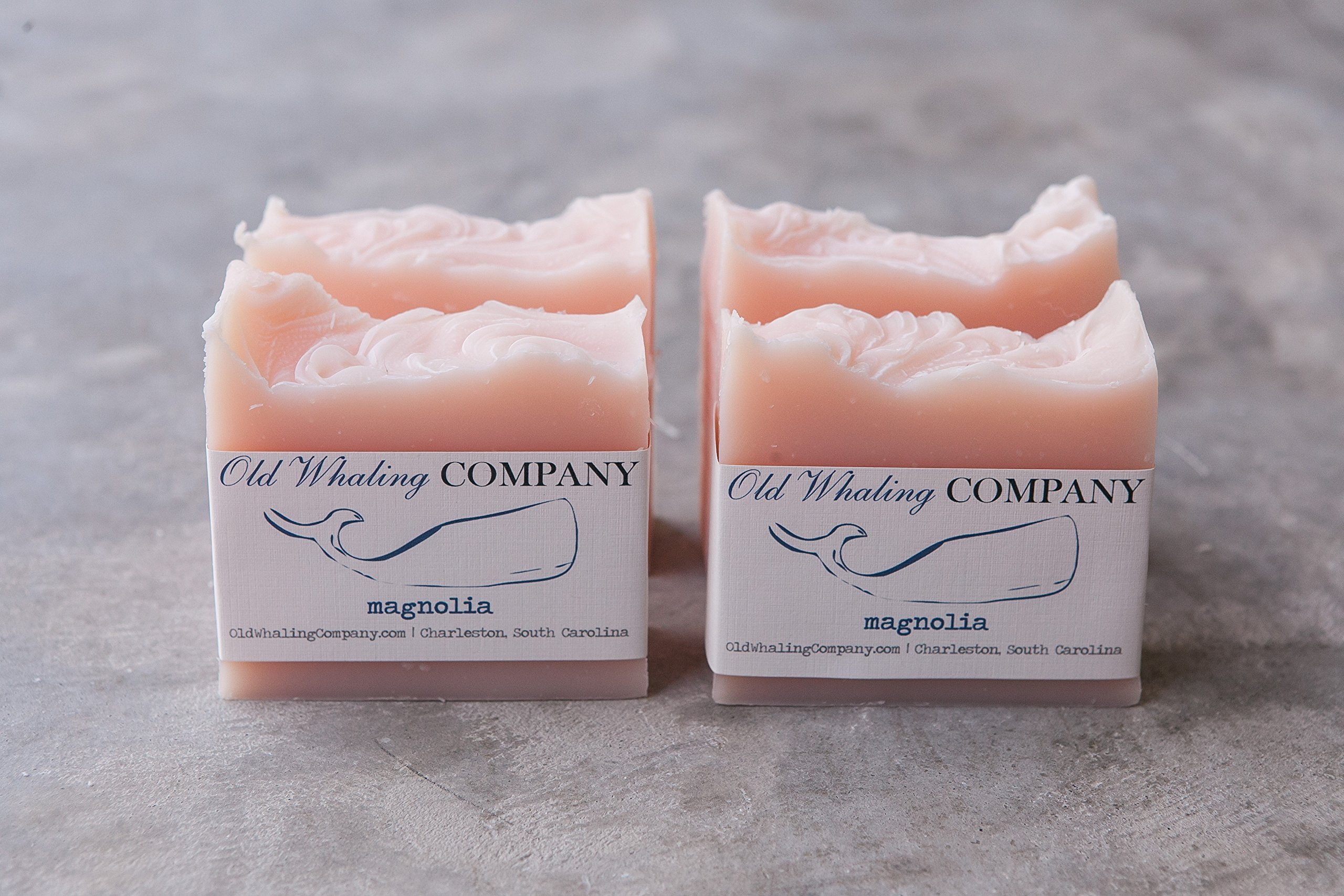 FOUR Magnolia Bar Soap || southern magnolia / pink bar soap / natural bar soap / handmade bar soap / cold process soap / southern favorite