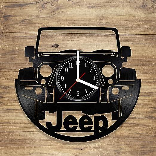 Amazon.com: Jeep - Reloj de pared de vinilo para coches y ...