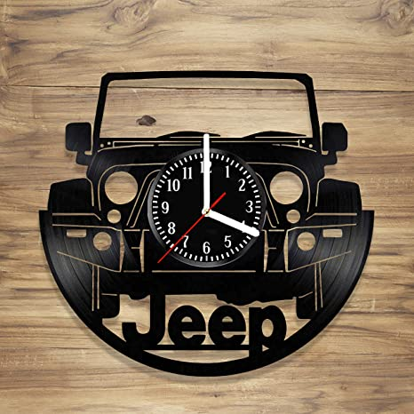 Amazon.com: Jeep - Reloj de pared de vinilo para coches y ...