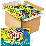 SWEDISH FISH Mini Tropical Soft & Chewy Candy, Bulk Halloween Candy, 12 - 3.5 oz Boxes