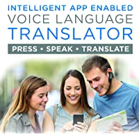Portable Language Translator Device – Translate Headphone – Voice Translation Earpiece – Real Time Two-Way Translation Gadget – Bluetooth Multi-Language Support with 5 Modes & Call Answering