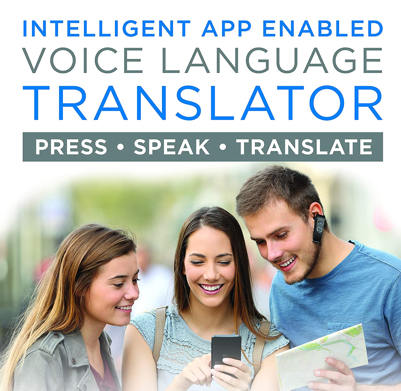 ポータブル言語翻訳デバイス - 翻訳ヘッドフォン - 音声翻訳イヤホン - リアルタイム双方向翻訳ガジェット - Bluetoothマルチ言語サポート 5モード&通話対応   B07N99SLHG