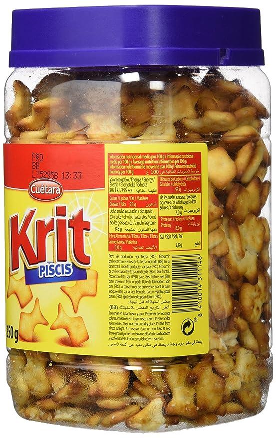 Cuétara - Krit Piscis - Galletas saladas - 350 g - [Pack de 3]: Amazon.es: Alimentación y bebidas