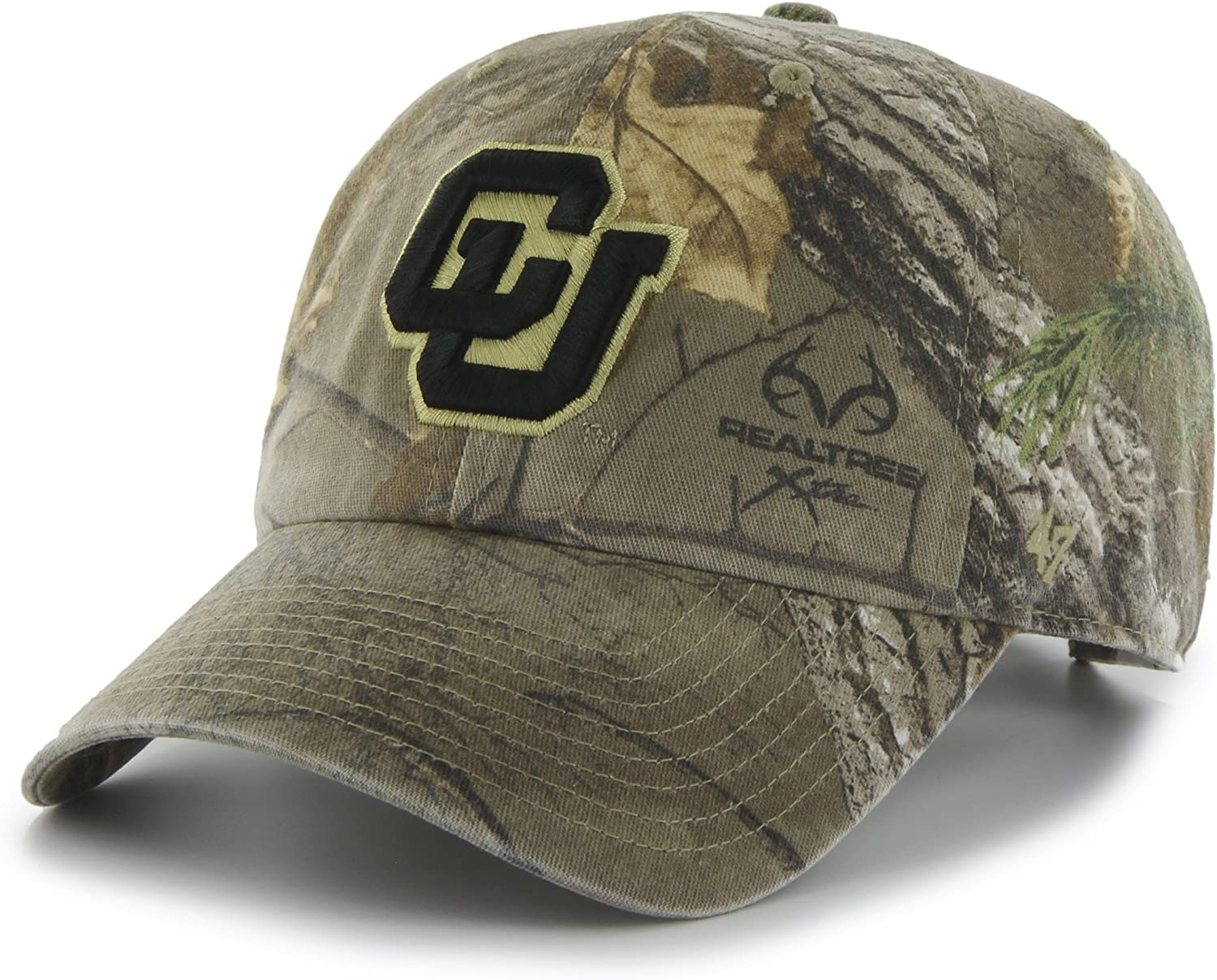 Realtree Camo 47 NCAA Colorado Buffaloes Adult Clean Up Realtree Adjustable Hat One Size