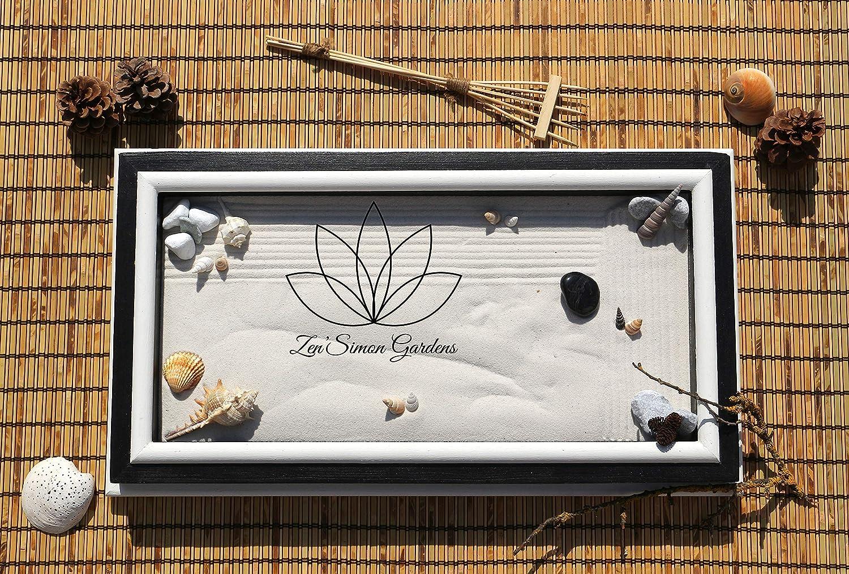 Jardin zen para Interior de Hogar en estilo Feng shui.Lleva Velas Arena Conchas y Rastrillo ॐ Zensimongardens®: Amazon.es: Handmade
