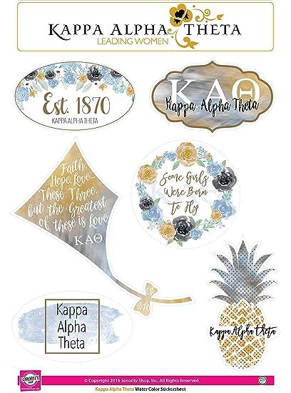 Kappa Alpha Theta Sticker Sheet Watercolor Theme